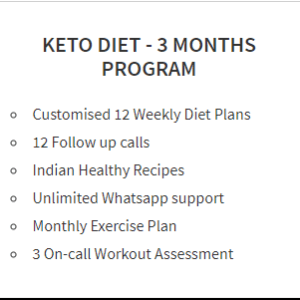 KETO DIET- 3 MONTHS PROGRAM